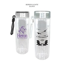 Custom 20 oz. Durable Clear Glass Bottle with Screw on Lid
