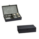 Custom Elegant Black Leather Jewelry Box - 12