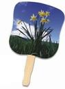 Custom Daffodils Stock Design Hand Fan