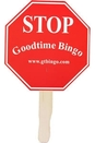 Custom Stop Sign Stock Shaped Hand Fan
