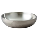 Custom Elegance Stainless Steel Hammered Chilling/ Serving Bowl