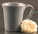 Custom 12 Oz. Carved Ceramic Gray Flair Mug, 4 1/2