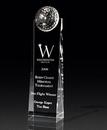 Custom Golf Tower Crystal Award (2 3/4