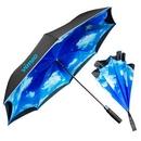 Custom The Blue Sky & Clouds Inverted Umbrella - Auto-Open, Reverse Closing, 48