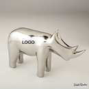 Custom Unique Electroplated Ceramic Rhino for Home Deco and Office, 10