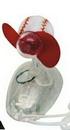 Custom Baseball Mini Computer Mouse Fan, 3 1/4