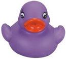Custom Mini Rubber Purple Duck, 2 1/2