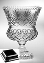 Custom Raleigh Trophy Vase on a Black Base - Lead Crystal (12 3/4