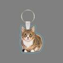 Custom Key Ring & Full Color Punch Tag W/ Tab - Tabby Cat