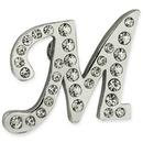 Custom Rhinestone Letter M Pin, 7/8