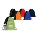 Custom Sport Mesh Pocket Drawstring Backpack, 13.5
