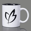 Custom Thames Mug - 11oz Black/White