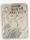 Custom God Bless America Stock Cast Pin