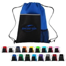 Custom Sporty Drawstring Backpack with Large Front Pocket and Mesh, 14