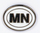 Custom Minnesota State Abbreviation Stock Cast Pin
