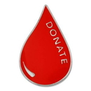 Blank Blood Donor Pin, 7/8