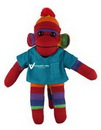 Custom Rainbow Sock Monkey (Plush) in Scrub Shirt 10