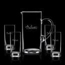 Custom 48 Oz. Crystalline Rexdale Pitcher W/ 4 Hiball Glasses