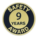 Custom Safety Award Pin - 9 Year, 3/4
