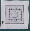 Square Coaster Napkin w/ Hemstitch & Drawnwork - 6