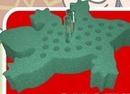 Lizard Shape Foam Tube Rack (Blank)