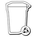 Custom Recycle Container Notekeeper Magnet- 20 Mil Process Color (2-1/4