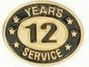 Custom Stock Die Struck Pin (12 Years Service)