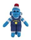 Custom Blue Sock Monkey (Plush) in Denim Overall 10