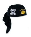 Black Pirate Scarf Hat w/ Custom Screen Printed Imprint