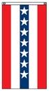 Blank 4'x6' Red/ White/ Blue Striped Flat Fan w/ Star Field