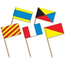 Custom Nautical Flag Picks, 2 1/2