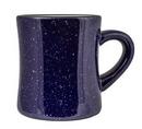 Custom 10 Oz. Vitrified Cancun Diner Mug (Cobalt Blue Campfire)