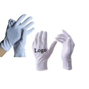 Custom White Cotton Gloves, Coin Jewelry Silver Inspection Gloves, 9
