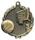 Custom Sculptured Basketball Medal 1.75