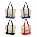 Custom Deluxe Zippered Cotton Canvas Tote, Grocery Shopping Bag, 20