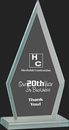 Custom Pristine Jade Glass Collection Triangle Award S, 6 3/4