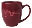 Custom 16 Oz. Bistro Mug (Burgundy Red)