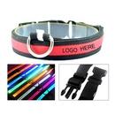 Custom Adjustable LED Nylon Pet Collar, 23 1/2