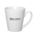 Custom 10 Oz. White Small Cafü Mug, 3 7/8