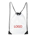 Custom Clear Plastic Drawstring Backpacks, 13.4