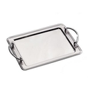 Custom Stainless Steel Rectangle Tray W/ Handles