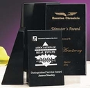 Custom Black Genuine Marble Executive Book Ends