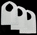 Blank Linen/Cotton Square Bottom Bib w/Swiss Dots & Replique