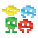 Custom Metallic 80's Icon Silhouettes