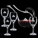 Custom 60 Oz. Medford Carafe with 4 Wine Glasses