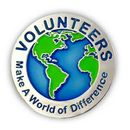 Custom Volunteers Make a World of Difference Pin