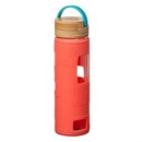 Custom The Astral Glass Bottle w/Teal Lid - 22oz Coral, 2.875