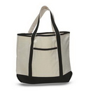 Custom Large Deluxe Tote w/ Zipper Closure, 22
