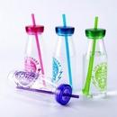 Custom Single Wall Milk Shake Cup With Straw 17OZ Capacity, 3