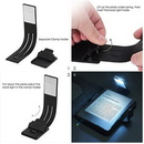 Custom USB Rechargeable LED Book Light with Clips, 8 1/2